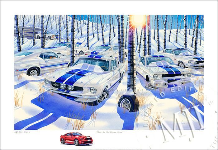 Shelby GT500 Artist Proof AP Ford art
